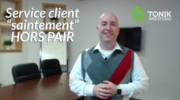 Service Client « Saintement » HORS PAIR (efficace)